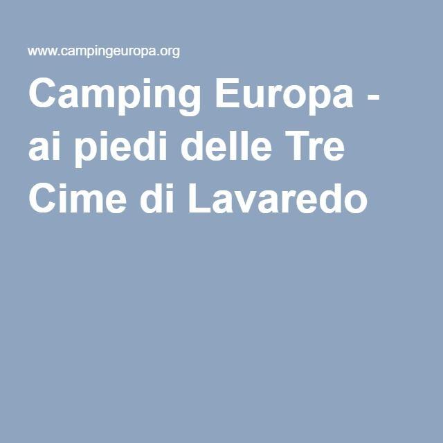 Camping Europa - ai piedi delle Tre Cime di Lavaredo