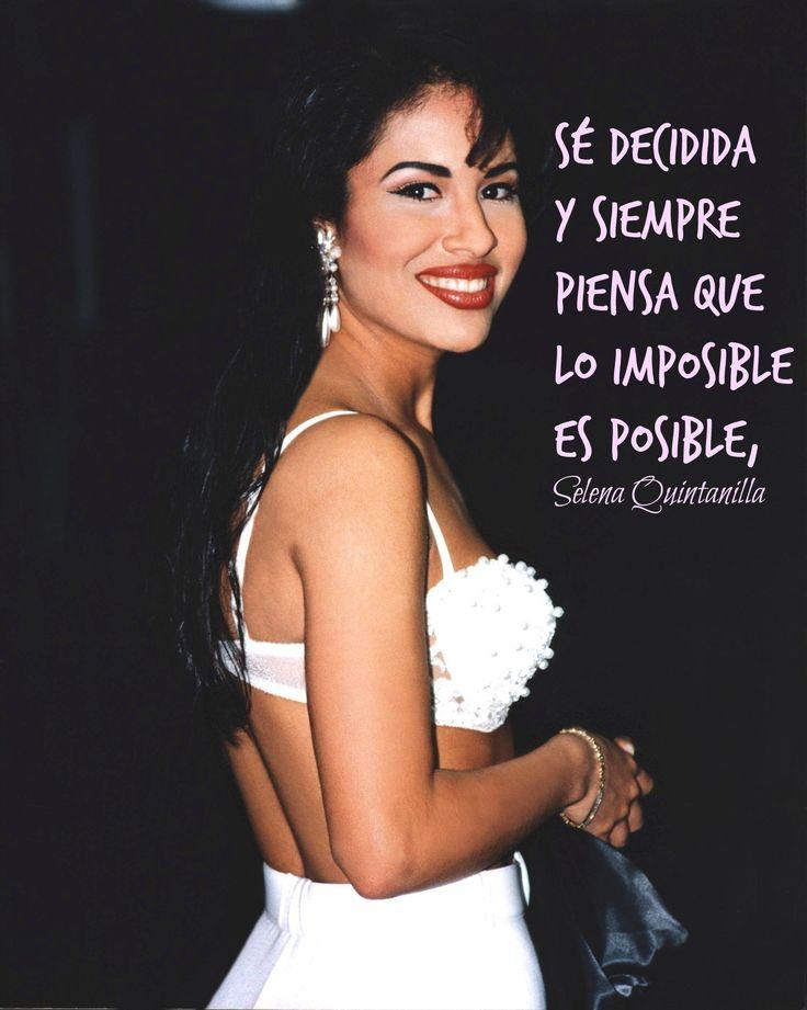 Frases célebres de Selena Quintanilla. Recordando a la Reina del Tex-Mex en el aniversario 20 de su lamentable y prematura muerte.