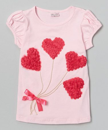 Loving this Pink Heart Balloons Tee - Infant, Toddler & Girls on #zulily! #zulilyfinds