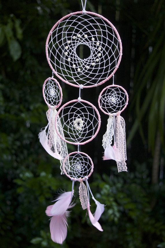 Dream Catcher Nursery  or Bedroom wall Hanging by DressMeFloral