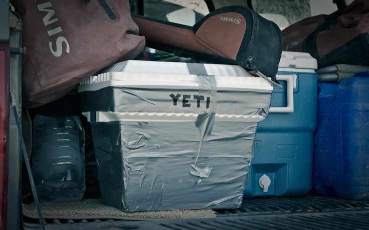 The homemade Yeti cooler - easy to do and it works great!