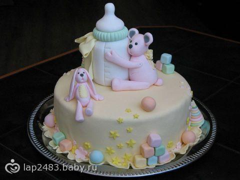 Давайте выбирать торт на первый день рождения(фото много )!!! Я сама не в состоянии! Они все классные!!!