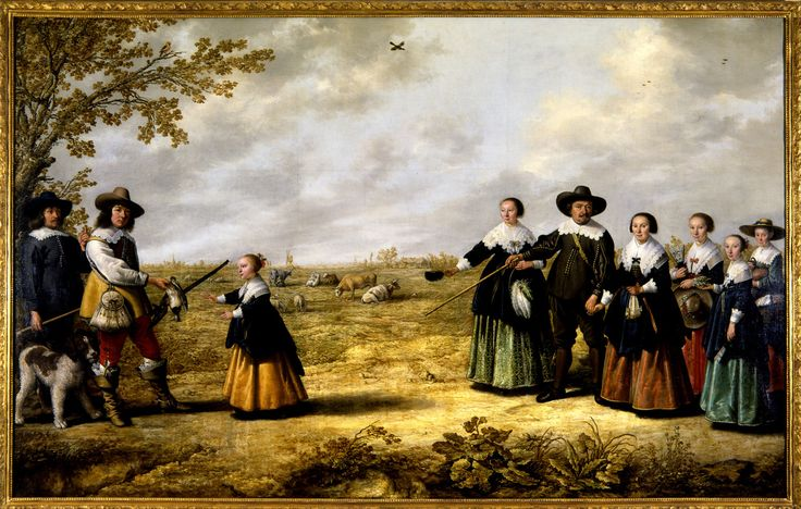 1641 Aelbert Cuyp Portrait of a Family in a Landscape