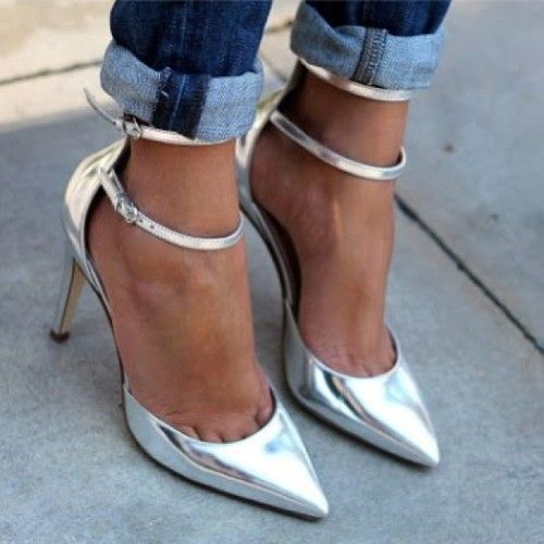 I have these silver beasts! And just got slouchy jeans to pair them with. Perfect image to justify both purchases!