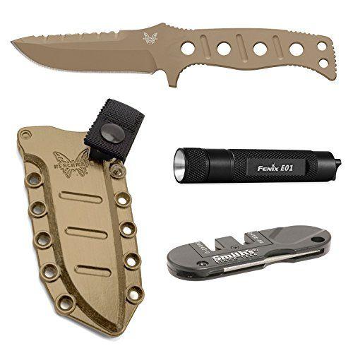 Benchmade Adamas 375SN Fixed Blade Knife with Molded Shea...