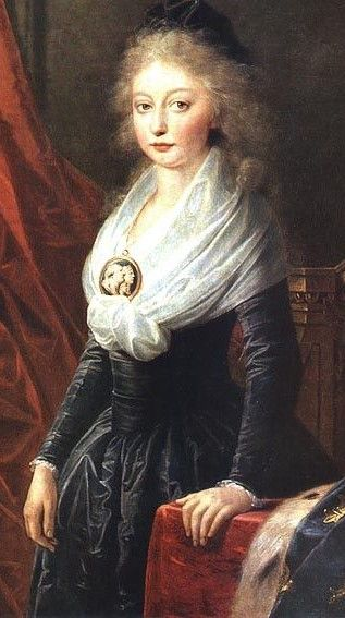 portrait of Marie Thérèse Charlotte daughter of Marie Antoinette and Louis XVI by Heinrich Friedrich Füger, after 1795 ...... the only survivor to grow to adulthood of arie antoinettes immediate family
