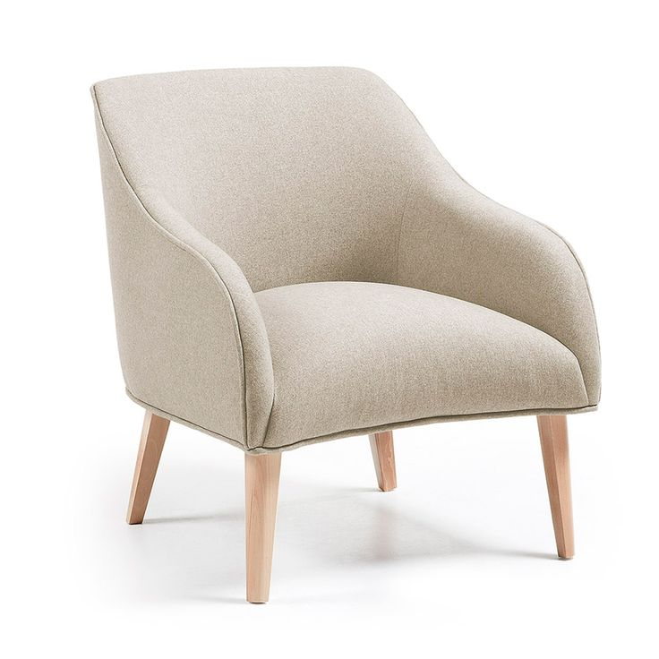 Fauteuil Bobly, beige