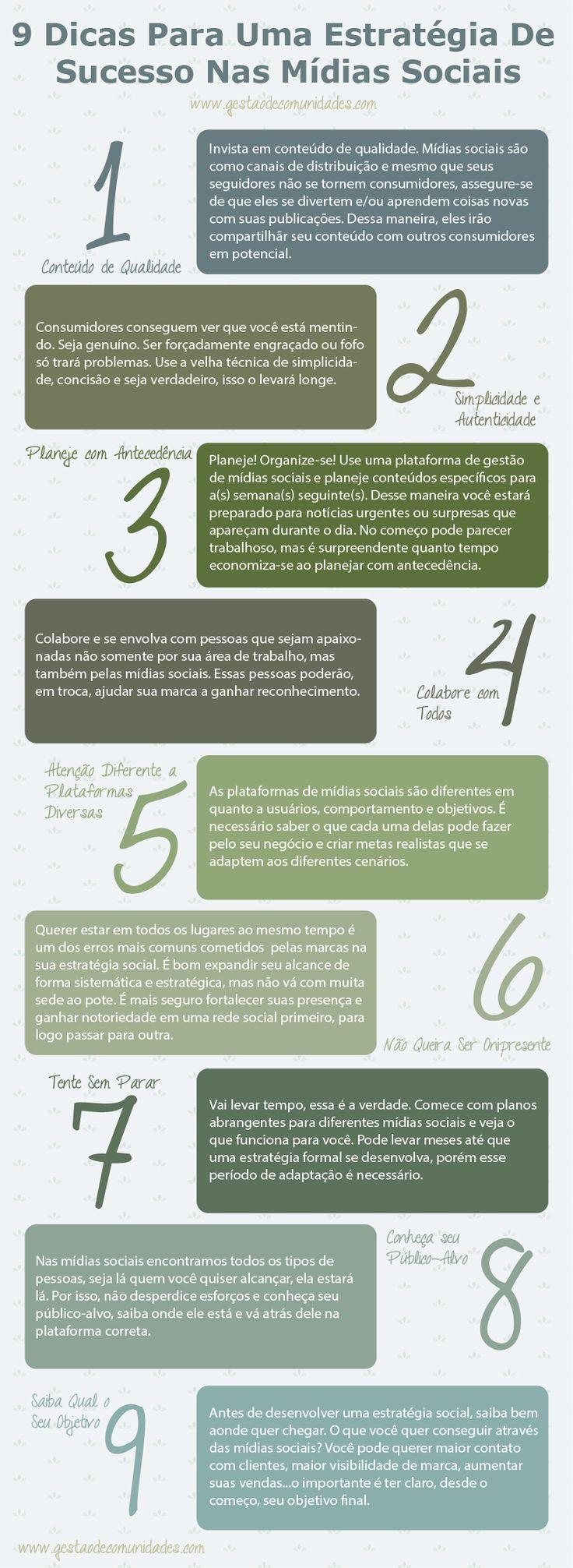9 dicas para uma estratégia de sucesso nas mídias sociais