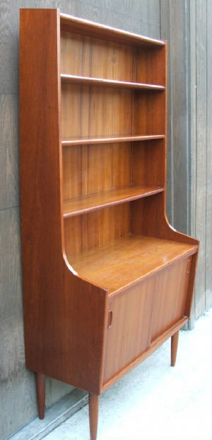 danish modern book shelf