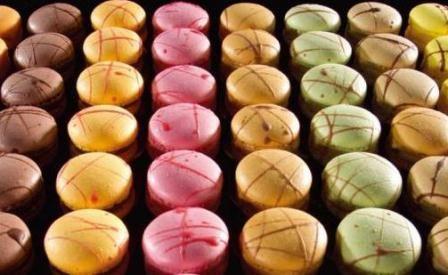 Macarons - Chocolate Mudcake, Pistachio, Creamy Vanilla & Strawberry