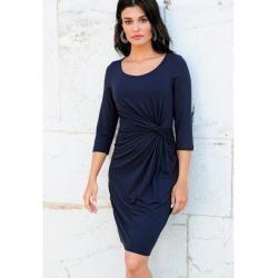 Alba Moda, Kleid mit Knotenverarbeitung, blau Alba Moda # ...