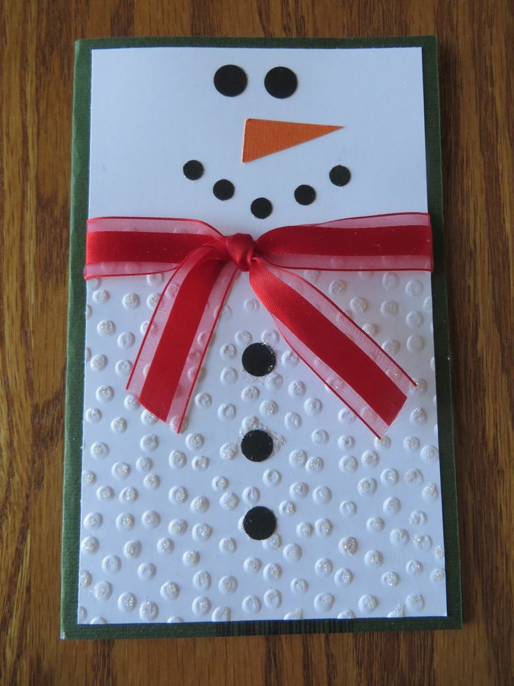 The perfect snowman card -Simple but incredibly cute!