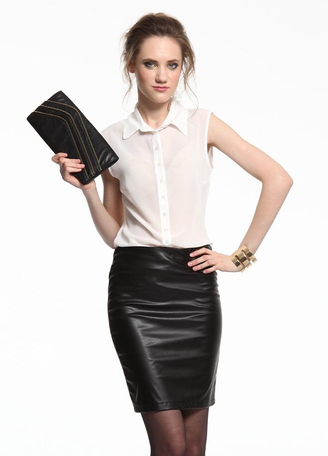 SATEEN Kolsuz şifon gömlek Markafoni'de 55,90 TL yerine 27,99 TL! Satın almak için: http://www.markafoni.com/product/3410956/