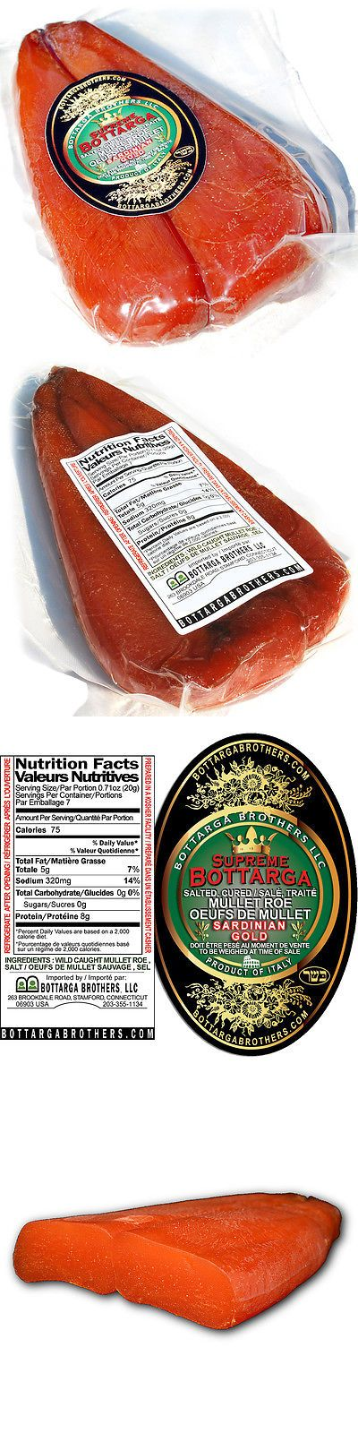 Meat Poultry and Seafood 14312: Supreme Bottarga™ - Sardinian Gold - Italian Cured Mullet Fish Roe -> BUY IT NOW ONLY: $41.25 on eBay!
