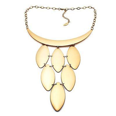 PL by Padma Lakshmi Cascading Pod 19-1/2 Collar Necklace