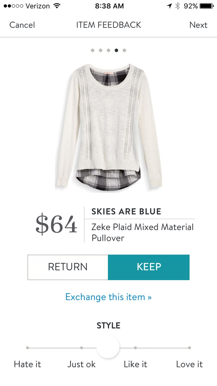 **** Love this white pull over with black and white plaid button up peek a boo underneath for fall. Stitch fix fashion trends. Stitch Fix Fall, Stitch Fix Spring Stitch Fix Summer 2016 2017. Stitch Fix Fall Spring fashion. #StitchFix #Affiliate #StitchFixInfluencer
