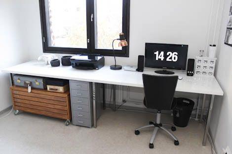 Long Table Top Extending Over Flat File Dream Decor Ikea Desk