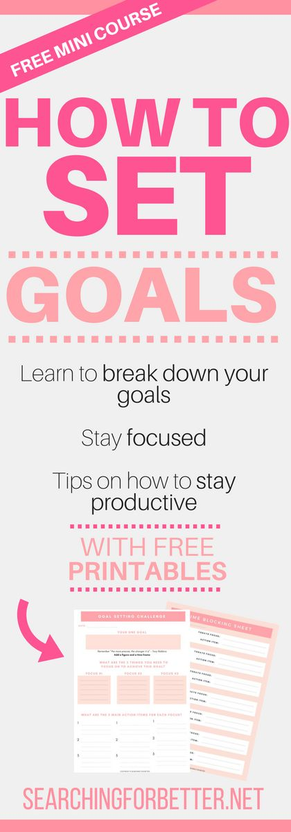 This goal setting challenge gives you step by step instructions on how to set life goals that inspire you (perfect to keep track of your new years resolutions). It has great templates on how to break down your goals into daily tasks!! So many bonuses too. The last free printable is my favourite!! #goals #printable #printables #productivity