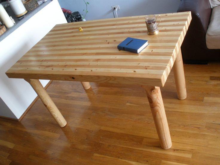 Kitchen: Pleasing Butcher Block Table Edmonton Also Butcher Block Dining  Table From Ikea From A