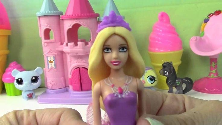Barbie Vending Machine of Shopkins Season 3 with Disney Frozen Queen Els...