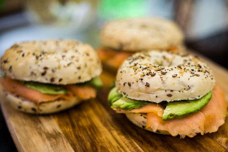 Smoked salmon & avocado bagel from Essence Café