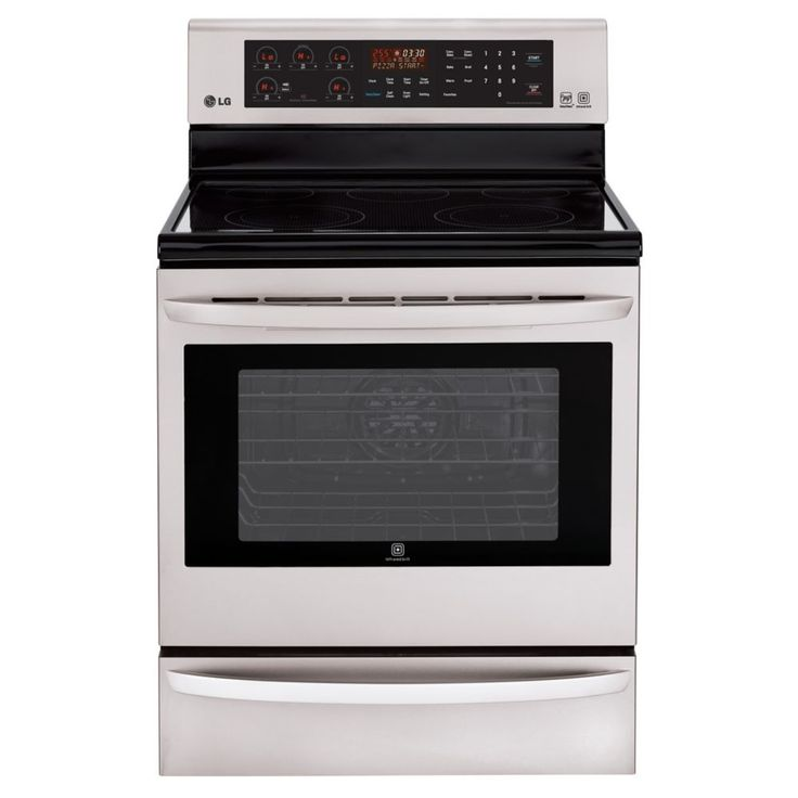 6.3 cu. ft. Electric Range with InfraRed Grill� and True Convection in Stainless Steel