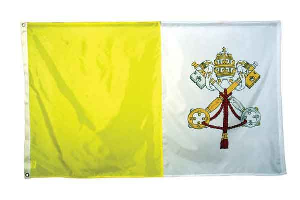 High Wind, US Made, Nylon Papal Flag 4x6