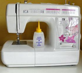 Limpiar y engrasar maquina de coser