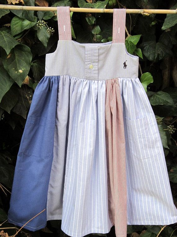 41c204775f69 Daddy s Little Girl Dress---upcycled from mens dress shirts---size 5 ...