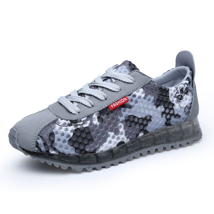 2016 camouflage shoes breathable mesh summer casual shoes net surface hollow female tourist Gump shoes