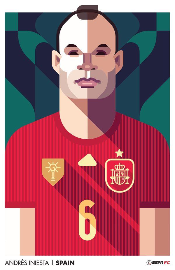 World Cup player portraits  - ESPN FC by Daniel Nyari