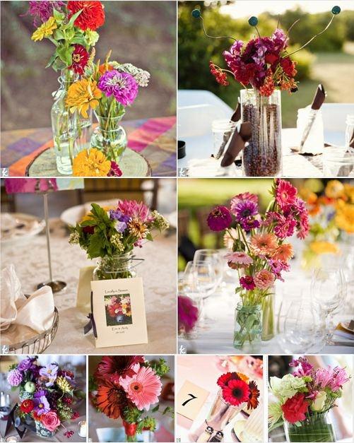 Wildflower Centerpieces Wedding Ideas Pinterest