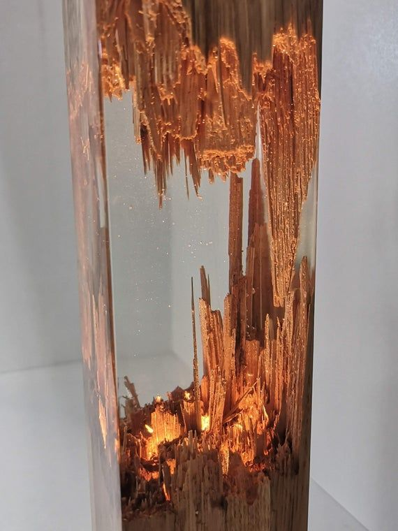 Lampe En Bois Epoxy Lampe De Nuit Decoration De Table En Image 8 In 2020 Epoxy Resin Wood Resin Table Wood Lamp Design