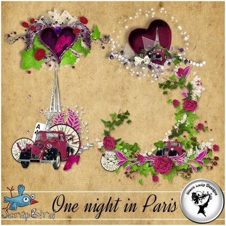 One night in Paris - Embellishments by Black Lady Designs