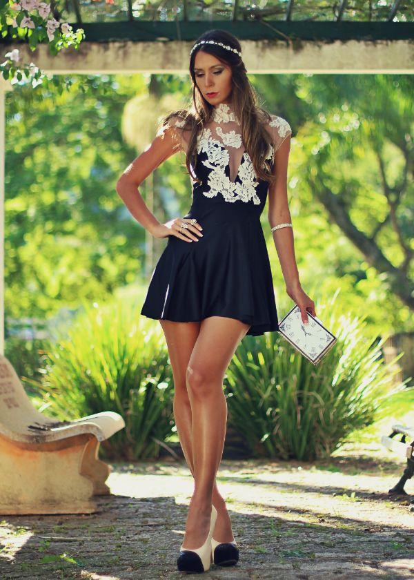 Vestido de Festa Curto com Renda e Transparência - Decor e Salto Alto - Blog de Moda, Look do dia , Boa forma, Beleza e Decoração...