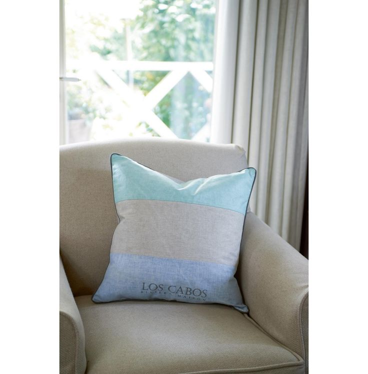 Los Cabos Resort Stripe Pillowcover light blue 50x50 - Los Cabos | Rivièra Maison