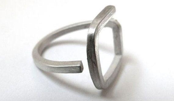 anillo de plata de la colección Formas Geometricas