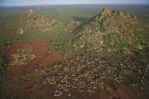 The Goula village of Bon. Bon, Zakouma National Park, Chad, Africa