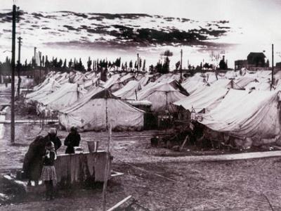 Al-Nakba Denial: Concealing Catastrophe. Palestinian refugee camps 1948