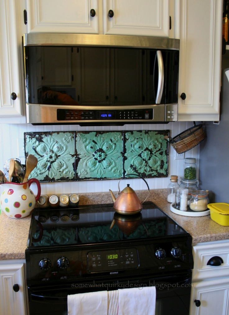 Diy Stove Backsplash Cool Place To Add Some Color I