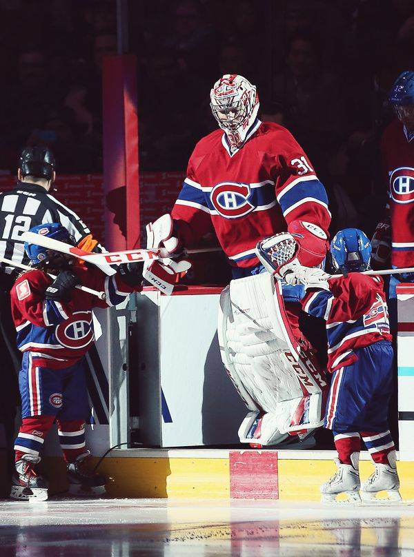 Stuff I Didn't Realize About Hockey  |    NHL Goaltenders REALLY are getting bigger and bigger.  They may have to increase the size of the nets one of these days.  Look at Carey Price !!!  He's almost twice the size of at least two guys on his team.  [Which one is Danny Briere, I can't tell what numbers they're wearing from here?]