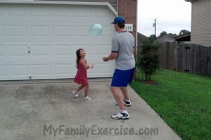We used this balloon bounce game today for my daughters homeschool PE class