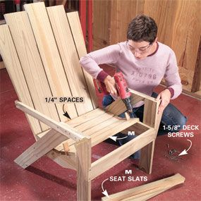 Step-by-step Adirondack Chair, to relax in after a long day in the garden