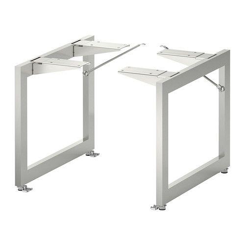 IKEA - LIMHAMN, Pied, acier inoxydable, 28x35 cm,