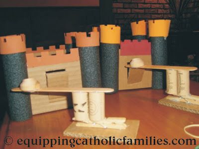 Castle and Catapult craft...great Leap Year Day or Snow day activity!