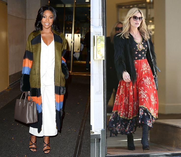 Осенние образы знаменитостей - Fresh - Свежий взгляд на стиль Габриэль Юнион и Кейт Мосс