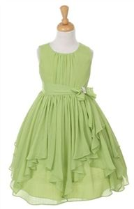 Bay - Lime Chiffon Dress