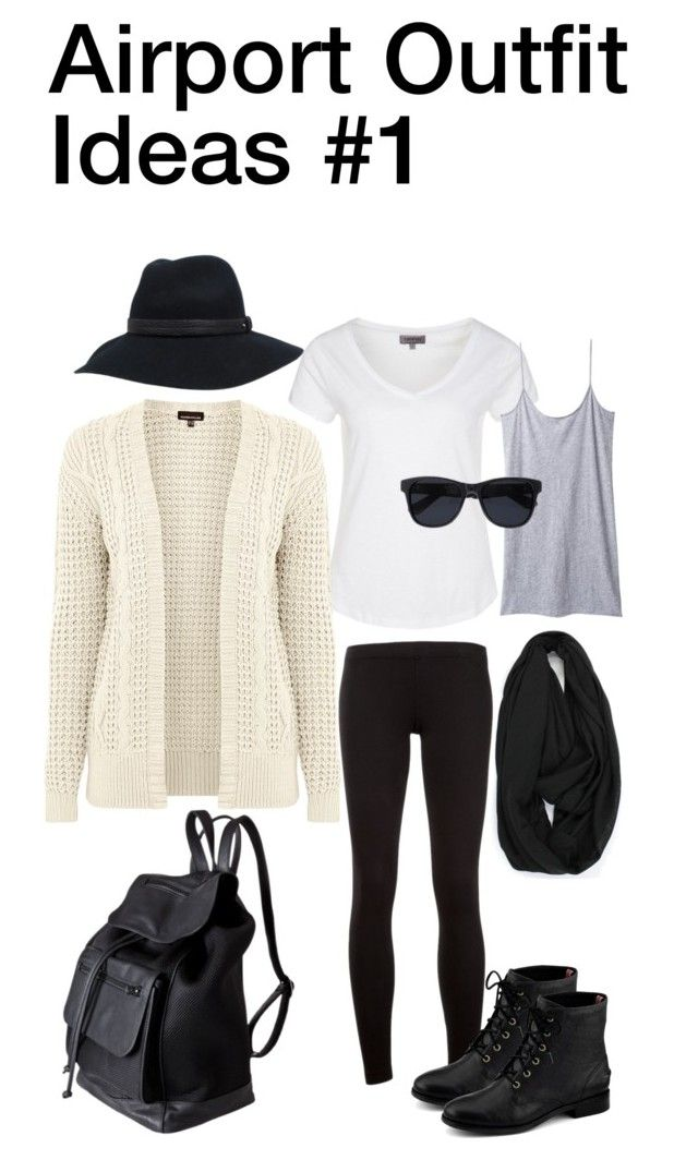 """""""Airport Outfit Idea #1"""" by nozomy ❤ liked on Polyvore featuring James Perse, rag & bone, Zalando, Organic by John Patrick, Warehouse, Pieces, Anine Bing and Sperry Top-Sider #airportstyle"""