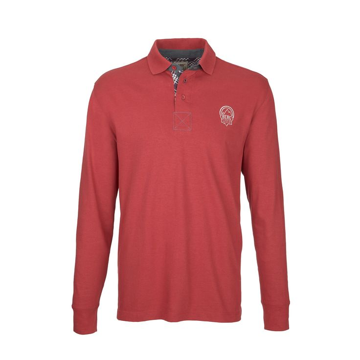 Long sleeve polo with elbow pads fit for a casual style.