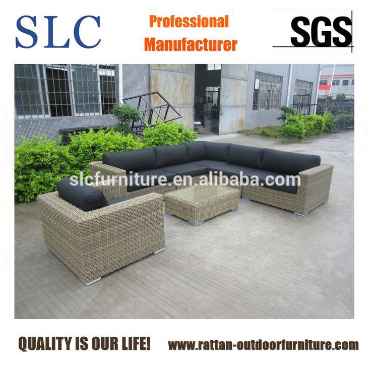 6MM Half Round Synthetic Rattan Furniture(SC-B6018-E2)